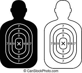 men paper targets