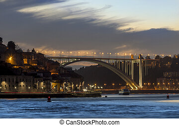 Porto (Oporto) in Portugal - Ponte da Arrabida over the...