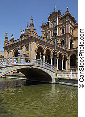 Plaza de Espana - Seville - Spain - Plaza de Espana in the...