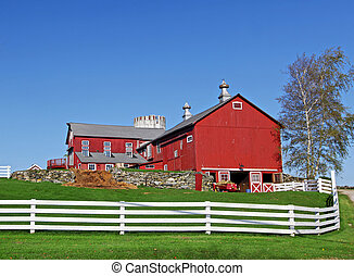 Traditional American Farm - Traditional typical looking...