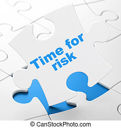 Timeline concept: Time For Risk on puzzle background