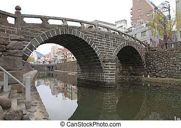 Spectacles bridge in Nagasaki, Japan