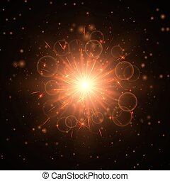 Explosion of the golden star