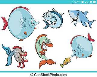 sea life fish characters collection