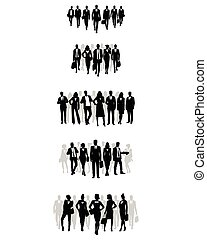 Business teams set - Vector illustration of a five business...