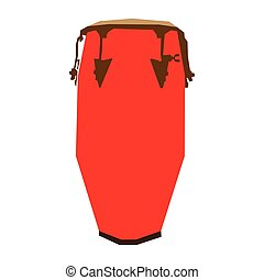 Isolated geometric conga drum on a white background, Vector...