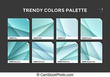 Glass facet gradient template, vector icon - Glass facet...