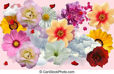 flowery collage  - collage too put your pictures on