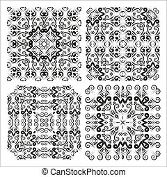 The four elements of the openwork pattern for the creation...