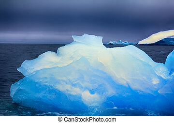 Arctic pure ice blue. Lots of ice for whiskey