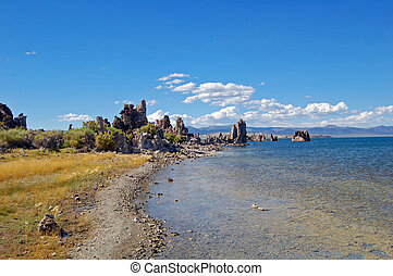 mono lake tufas - tufa towers in mono lake