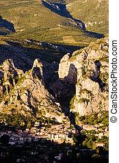 Moustiers Sainte Marie, Alpes-de-Haute-Provence Departement,...