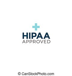 HIPAA Approved Approval or Compliance Icon Graphic - HIPAA...