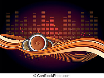 music background - vector illustration of musical theme with...