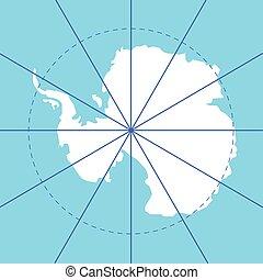 antarctic south pole map antarctica land set