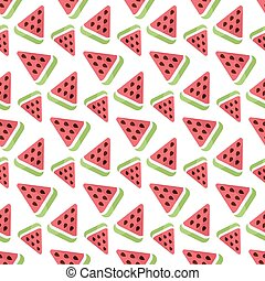 Watermelon vector seamless pattern