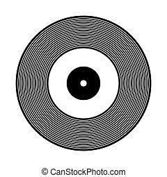 Vinyl record icon. - Vinyl record icon on white background....