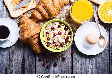 Breakfast including coffee