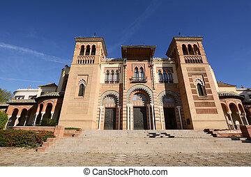 Mudejar museum in park Maria Luisa. - Mudejar museum in park...