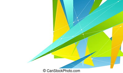 Colorful abstract tech polygonal video animation - Colorful...