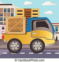 transport truck - Vector Illustration of transport truck