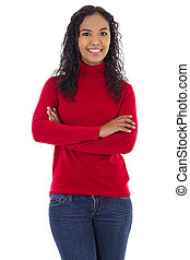 Confident Smiling Woman - Stock image of confident woman...
