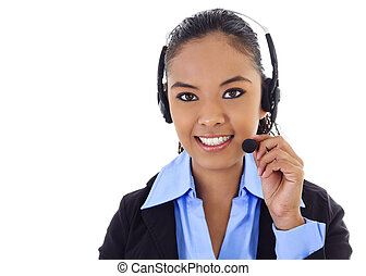 Call Center Operator - Stock image of female call center...