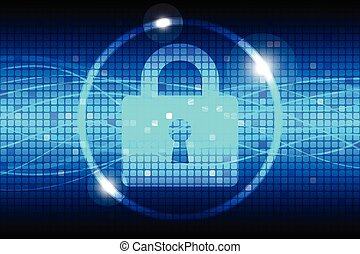 Internet Security Blue Abstract Background