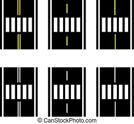 crosswalk on the road simple symbol - illustration for the...