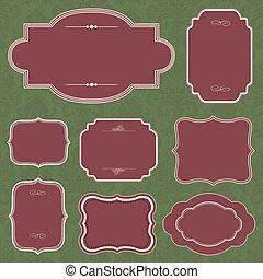 Vector Christmas Frame Set
