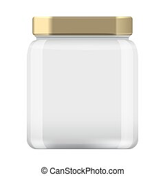 Glass Jar for canning and conservation. Empty jar mock up...