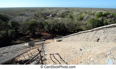 Ek Balam Cityscape - Cityscape of ancient Mayan city of Ek...