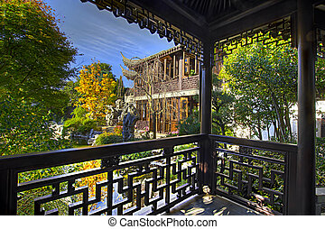 View from the Pavilion at Chinese Garden