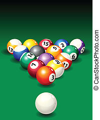 Pool - Vector illustration - background with pool balls