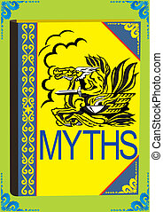 Myths - Printed edition. A book on the cover of which...