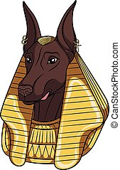 Color vector image Anubis. Isolated object. - Color vector...