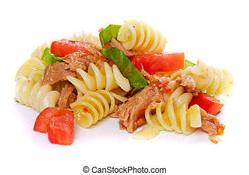 Pasta with tuna meat