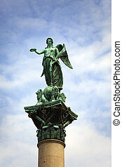 goddess Concordia on top of the King Wilhelm Jubilee Column(...