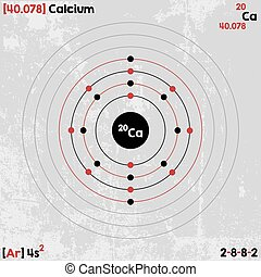 Element of Calcium - Large and detailed infographic of the...