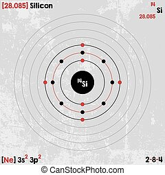 Element of Silicon - Large and detailed infographic of the...
