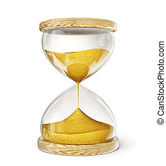 hourglass isolated on a white. 3d illustration