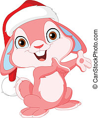 Christmas cute bunny
