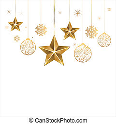 christmas design element - christmas star and decoration...