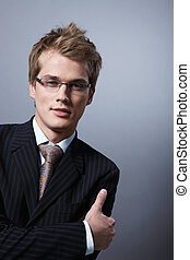 Stylish businessman - Portrait of a young businessman in...