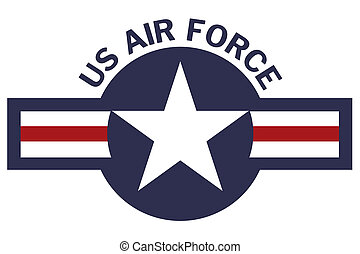 United States of America Air Force Roundel on White...