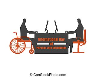 International Day of Persons with Disabilities. disabled at...
