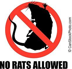 no, ratas, permitido