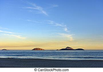 Cagarras islands at Ipanema beach - View of Cagarras islands...