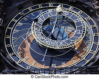 Praha - Clock tower in Praha
