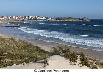 Peniche on the coast of Portugal - The town of Peniche on...